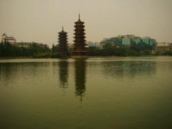 Two Pagodas on Li River