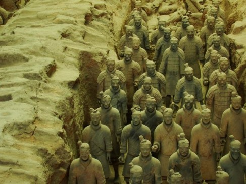 Terra-cotta Warriors and Horses museum --- Eighth Wonder of the World. About 8,000 warriors have been unearthed.
