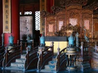An emperor sat here