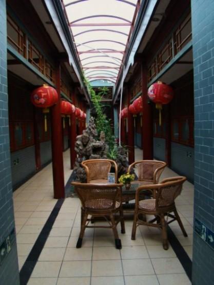 Courtyard Area of Leo Hostel