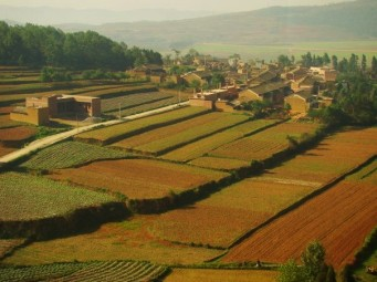 A gorgeous farming community, Yunnan Province, on the way to Tibet...