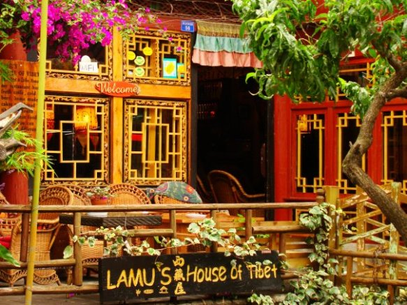 My hangout for coffee and Tibetan beef momo dumplings. LAMU'S HOUSE OF TIBET.