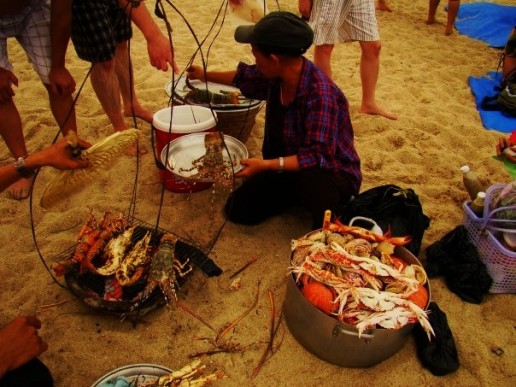 Cheap and Plentiful Seafood on Nha Trang Beach