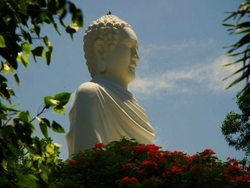 White Buddha at Long Son Pagoda