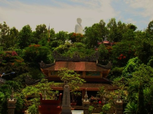 Buddha in the Distance Above the Temple