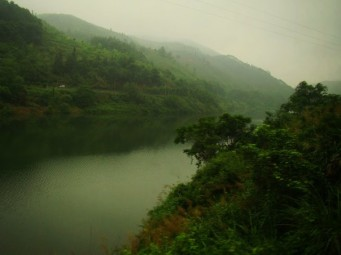 Train through the mountains on way to Xiamen