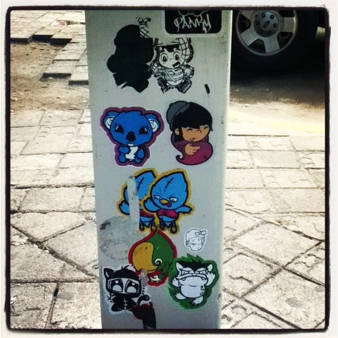 Stickers Street Art cancun's sticker street art – tokidoki (nomad)