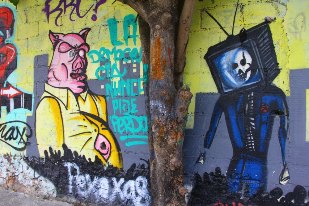 POLITICAL GRAFFITI IN PLAYA DEL CARMEN 2: ELECTION FRAUD (2/6)