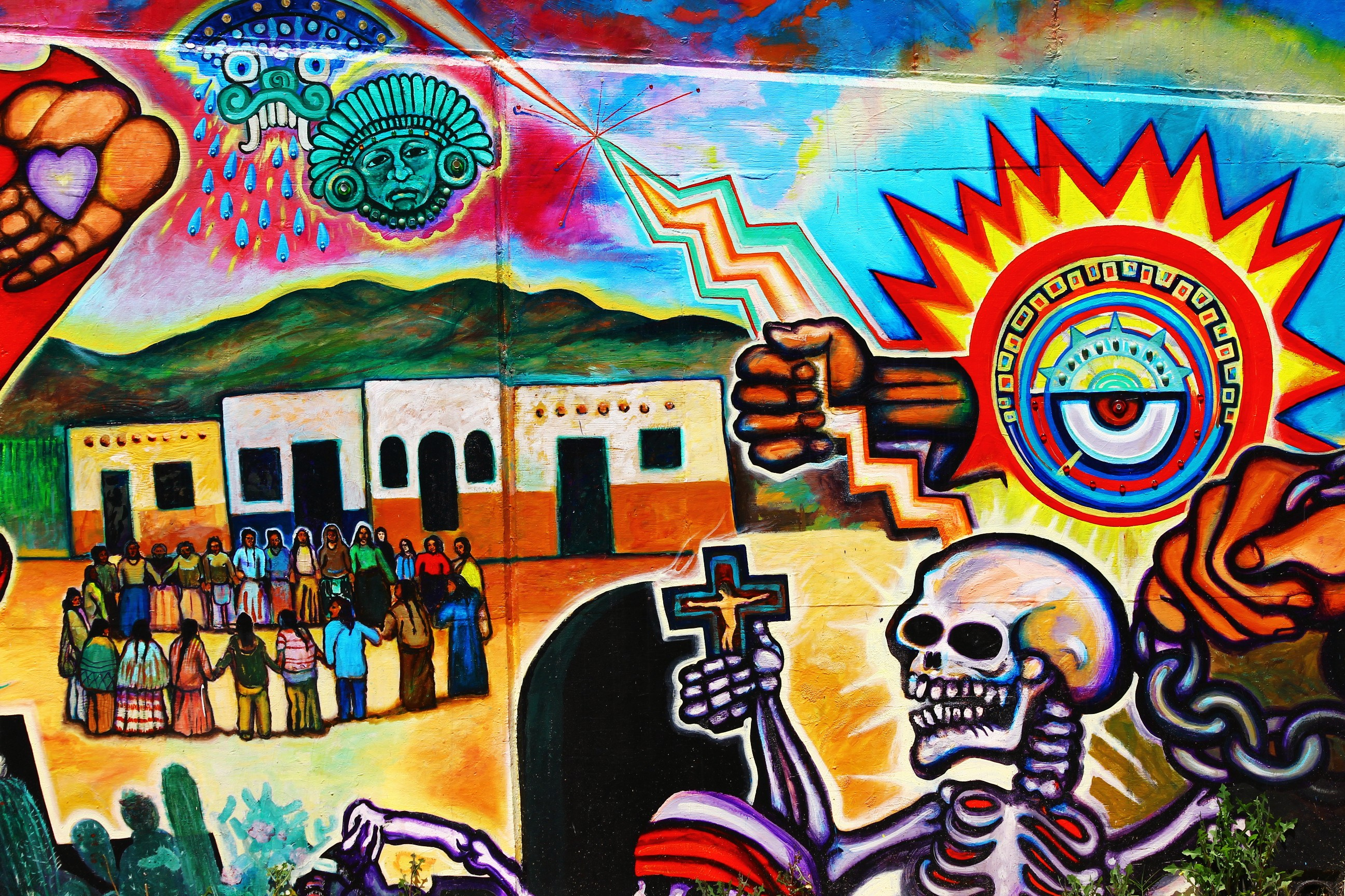 San diego street art chicano park murals via canon 550d for Chicano mural art