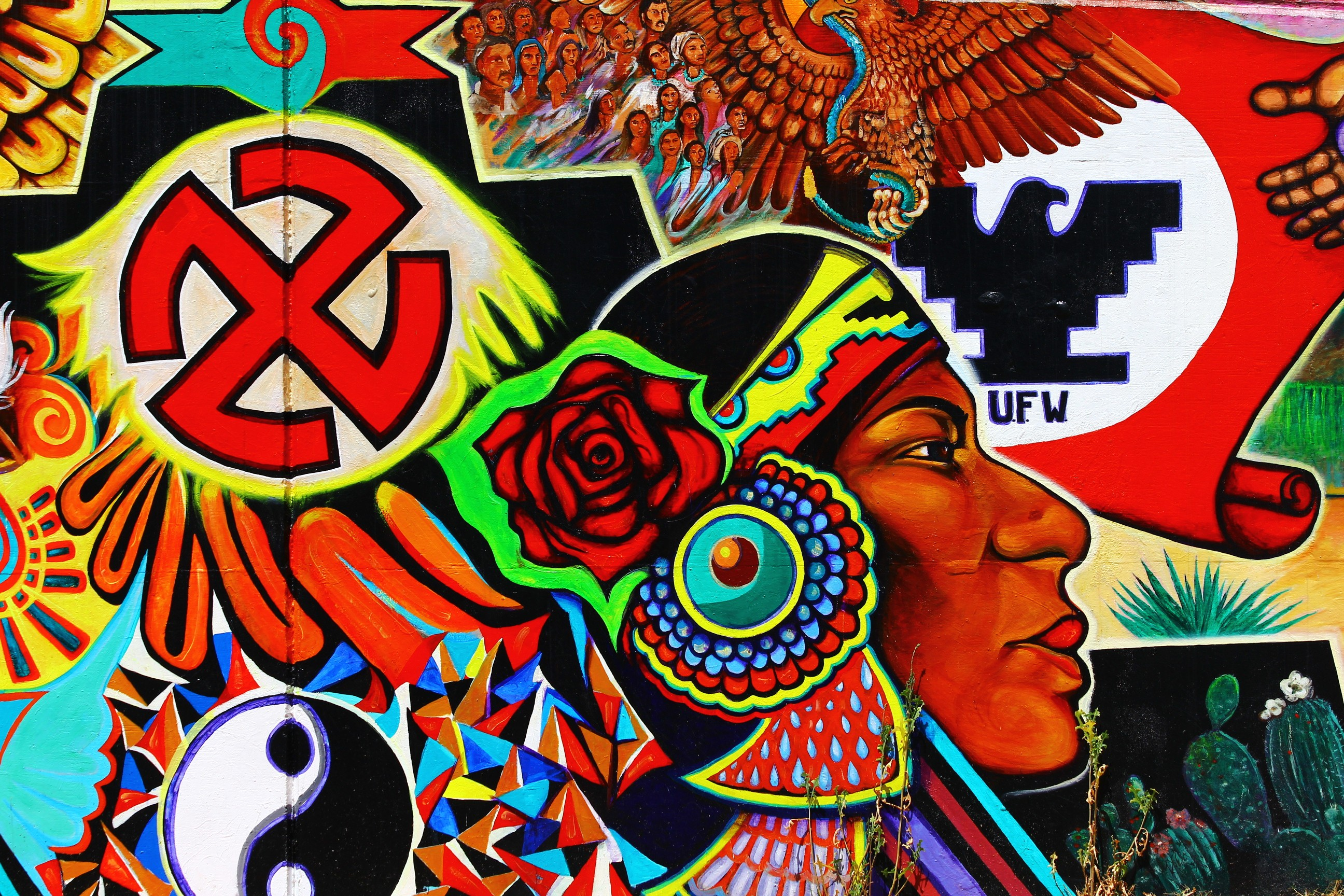 Chicano art murals images galleries for Mural chicano