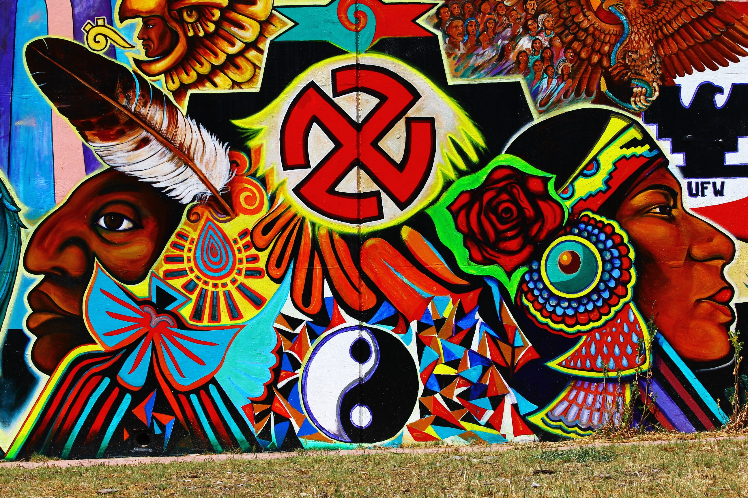 San diego street art chicano park murals via canon 550d for Chicano park mural