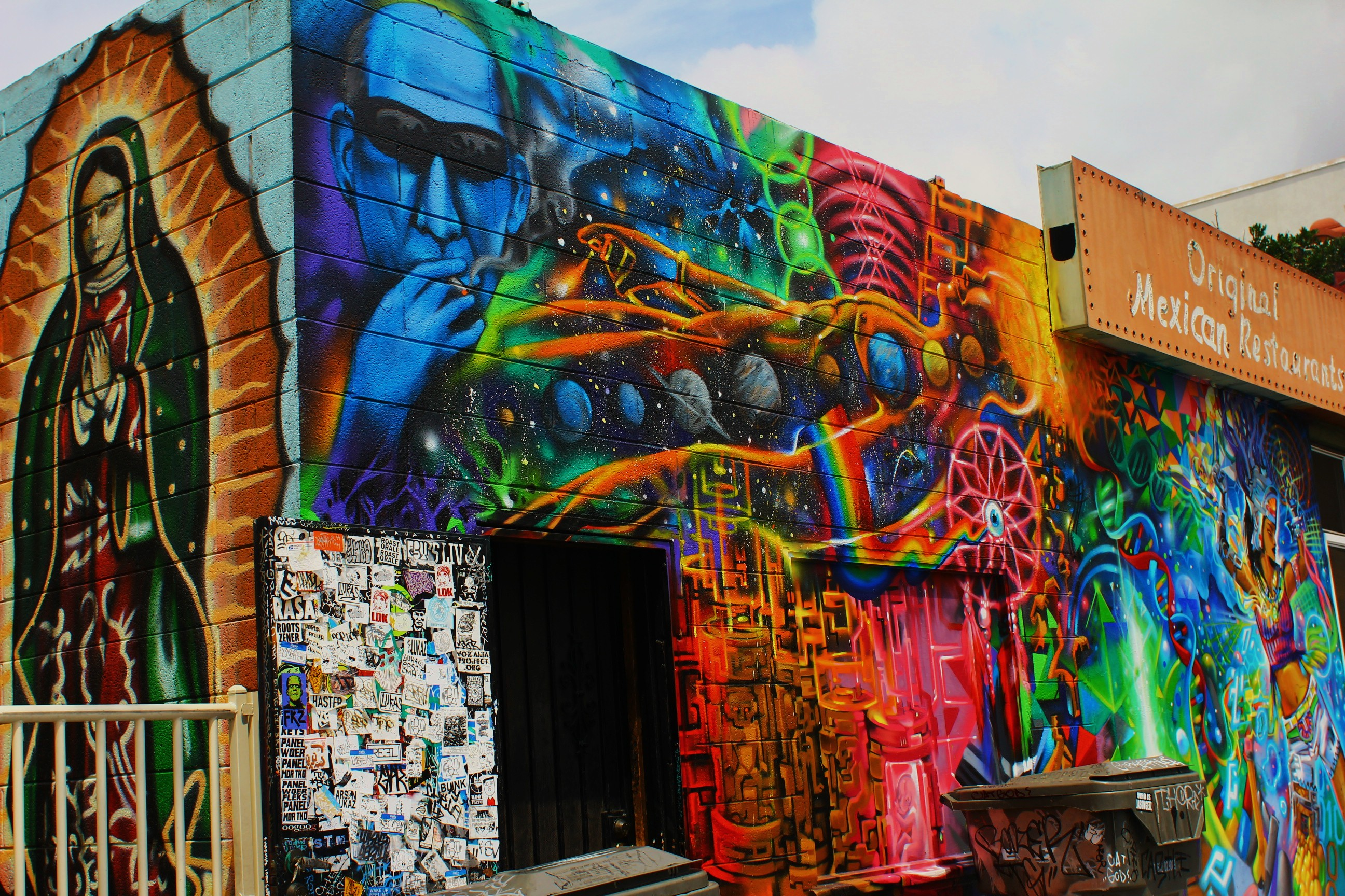 san diego street art mystical mural on pokez restaurant the talking walls memory care murals in san diego