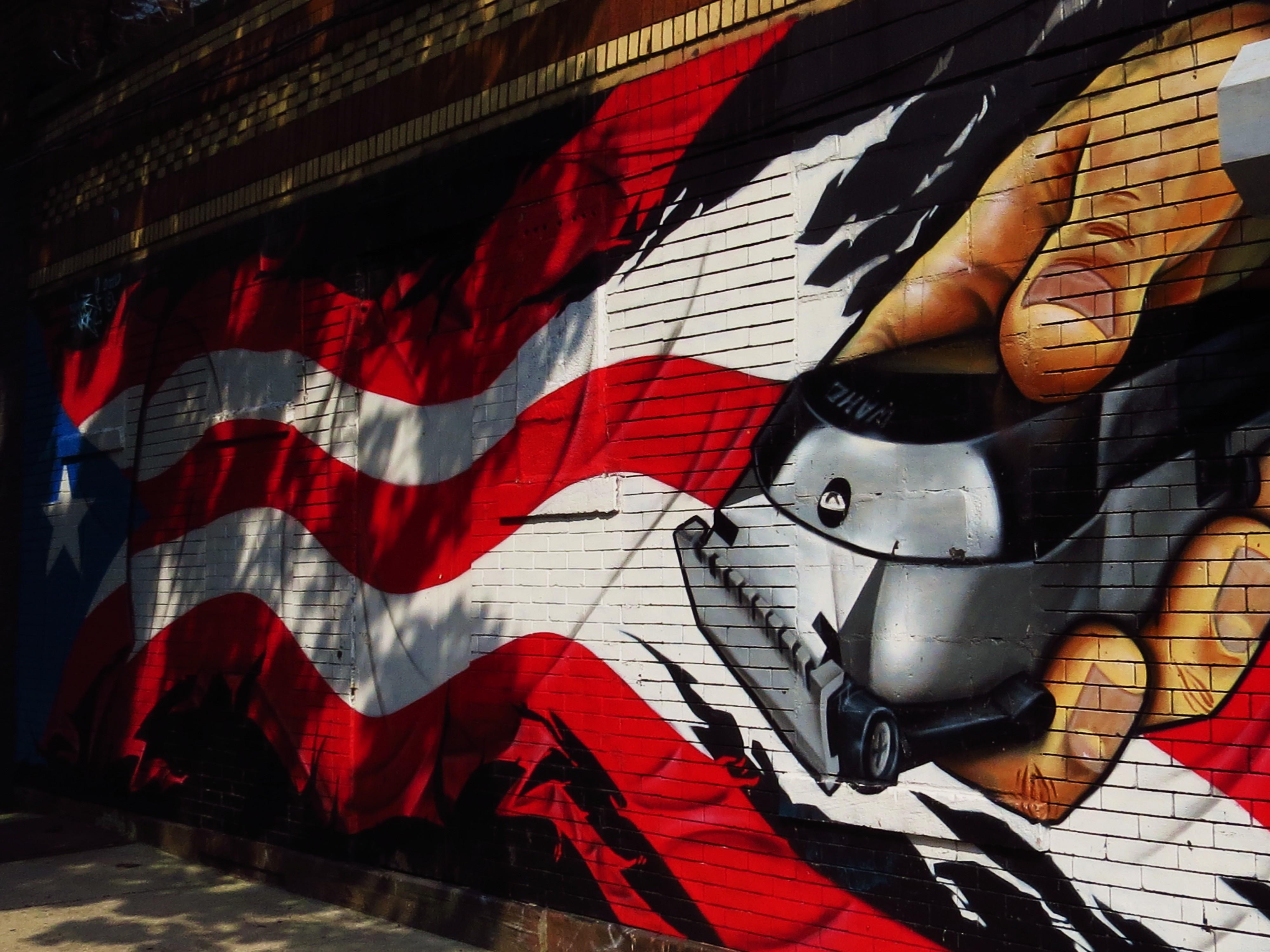 Brooklyn images mural barber shop tokidoki nomad - Mural de fotos ...