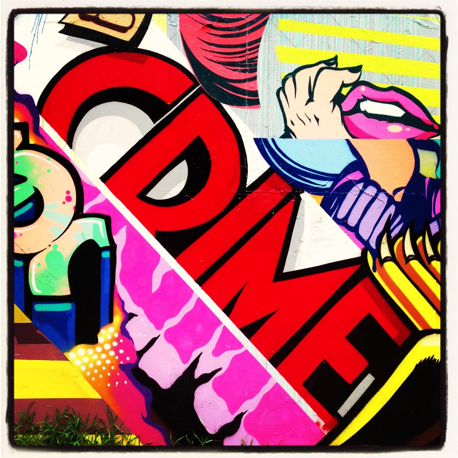 East village street art memorial comic book mural by for Comic book mural