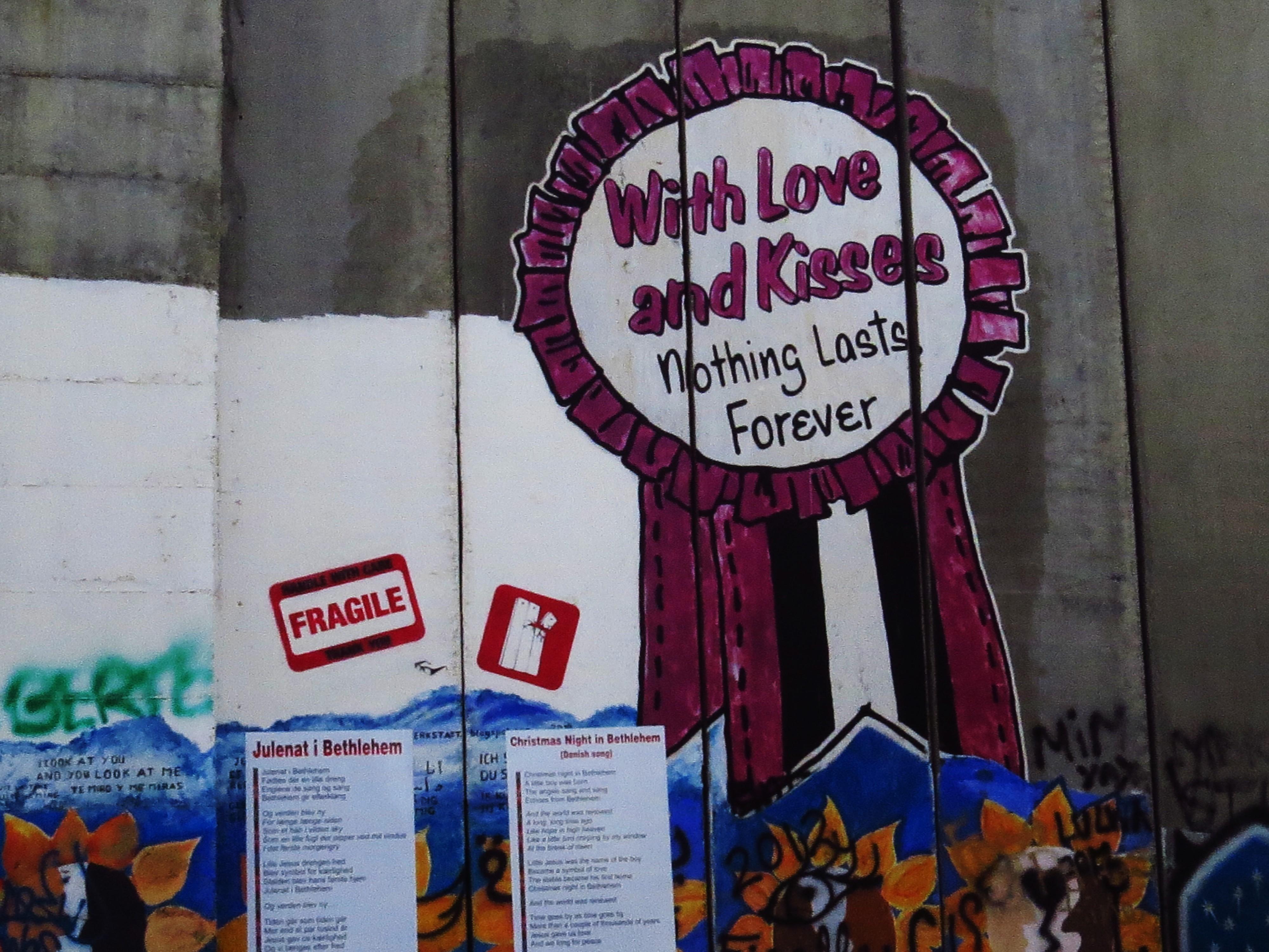 SEPARATION WALL GRAFFITI: FREE PALESTINE – TOKIDOKI (NOMAD)