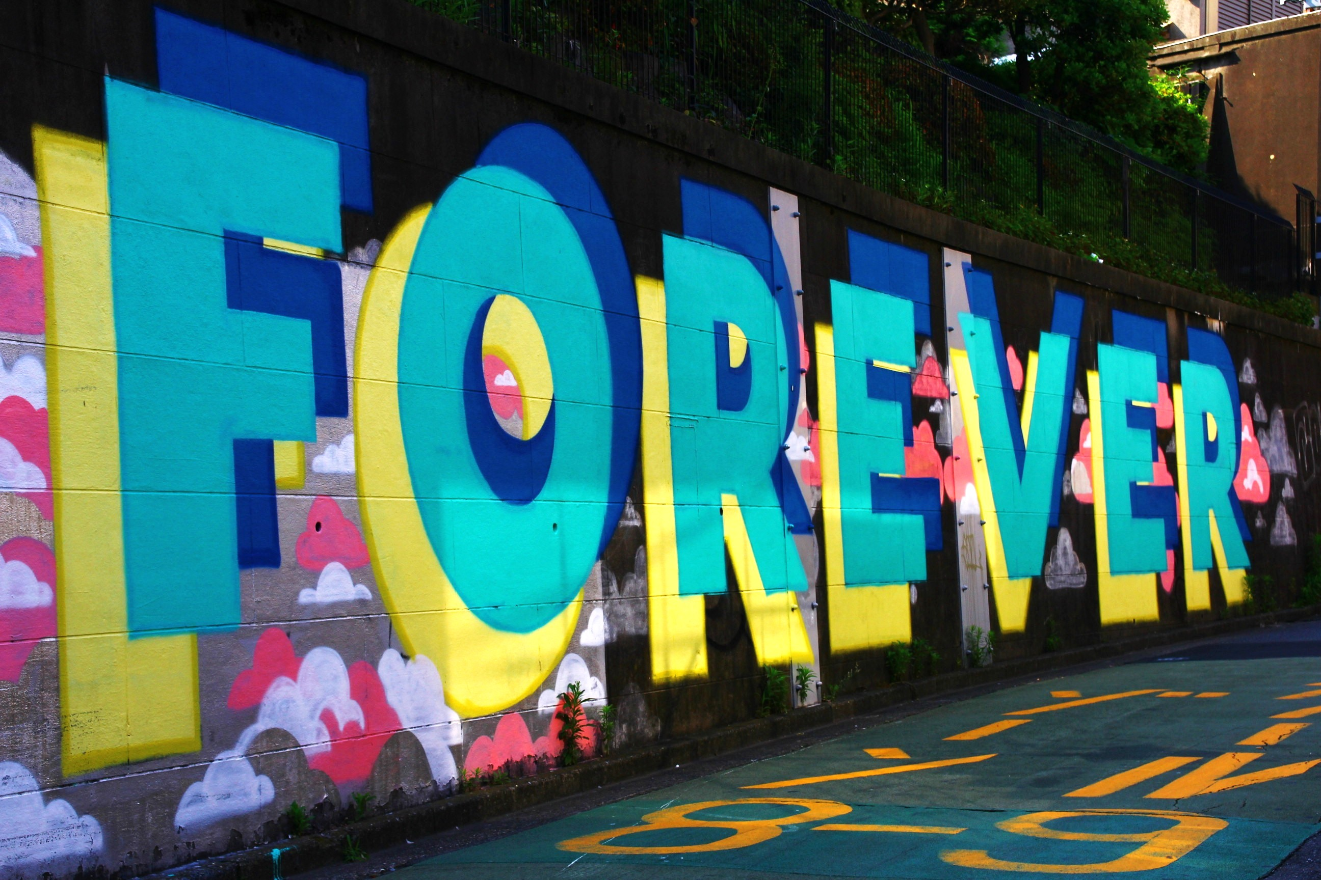 Graffiti wall tokyo - Harajuku Tokyo Japan