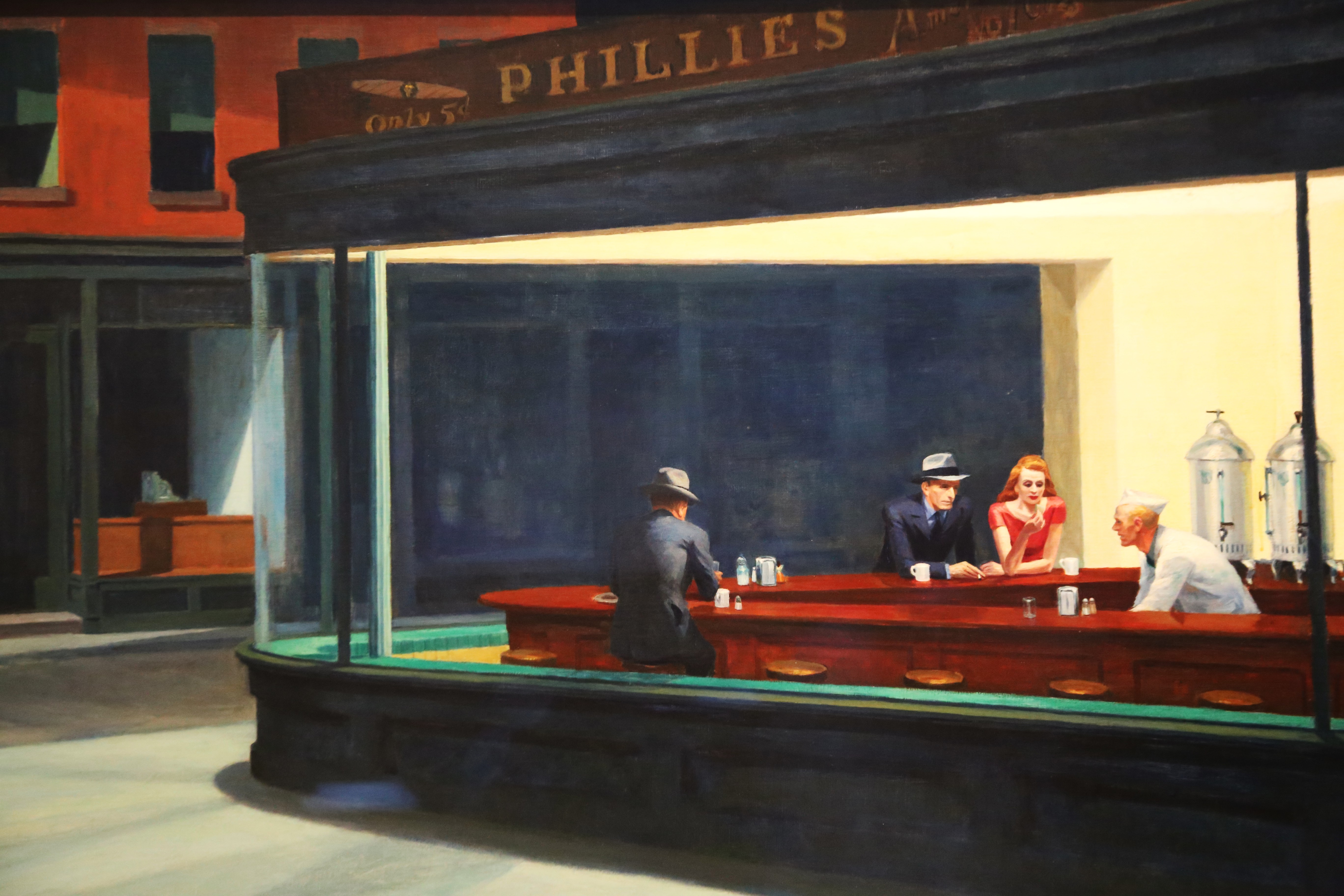 painting nighthawks by edward hopper essay Nighthawks, 1942 by edward hopper is printed with premium inks for brilliant color and then hand-stretched over museum quality stretcher bars 60-day money back guarantee and free return shipping.