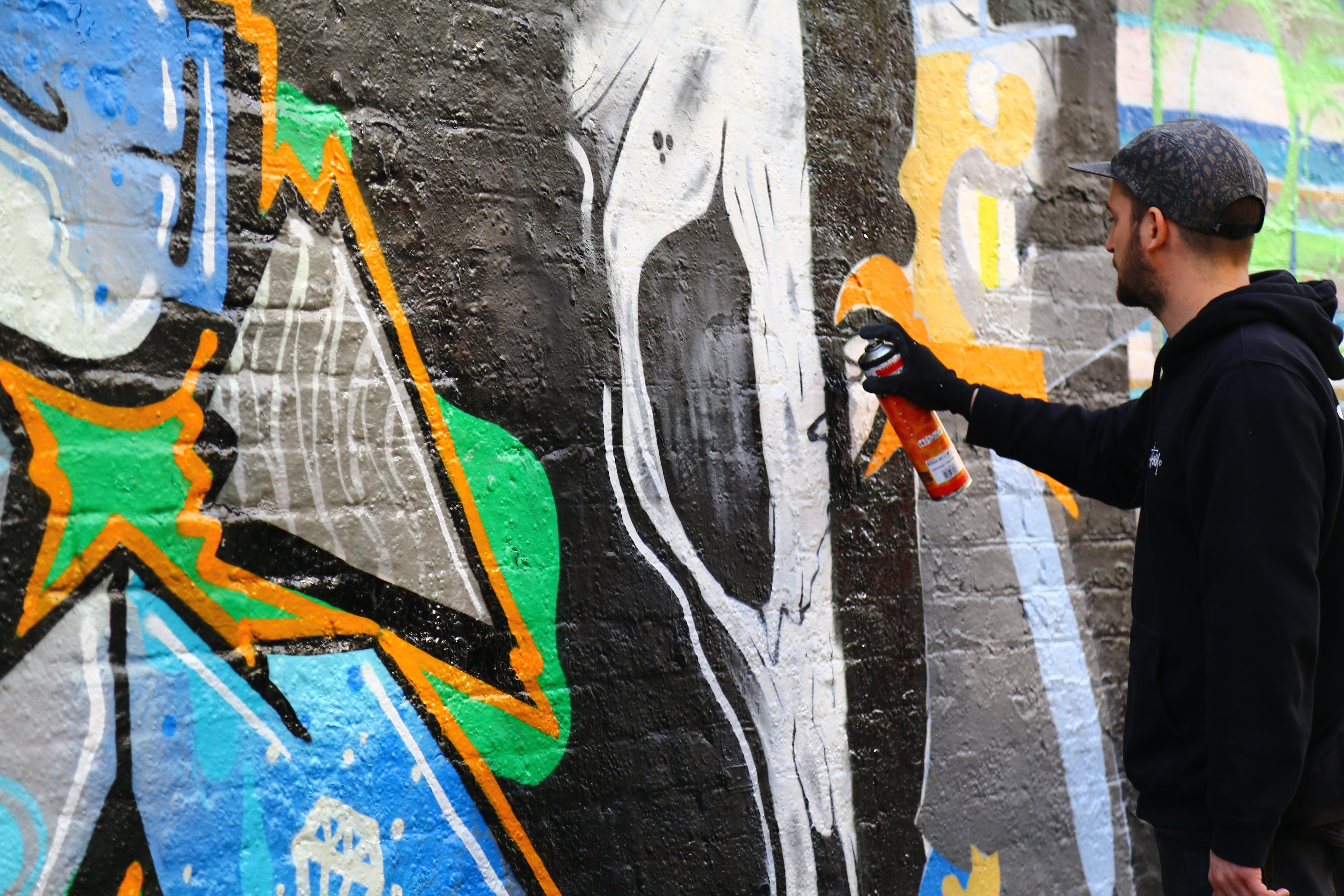 Yokohama graffiti wall - Image Image