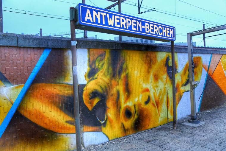 Antwerp Belgium Street Art Antwerpen Berchem Station By Cazn1 Tokidoki Nomad