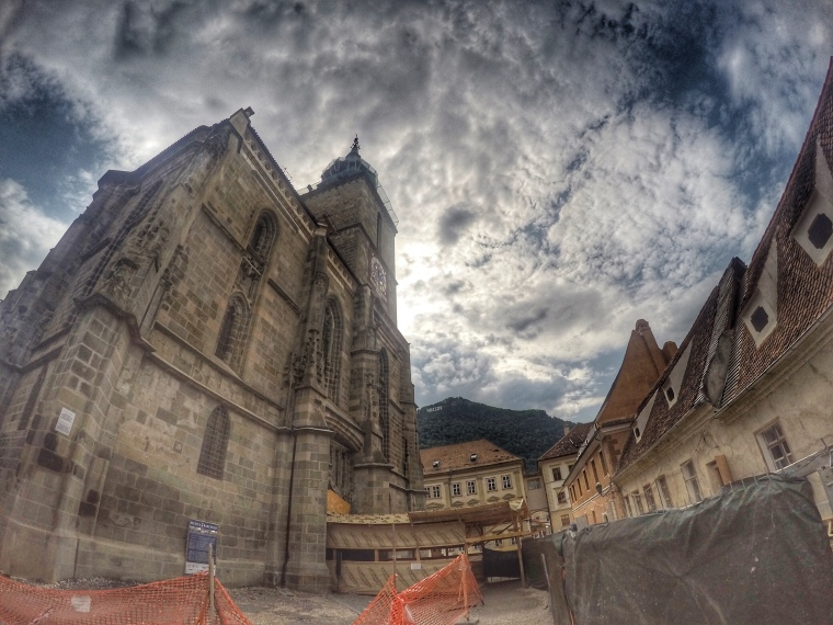 The Black Church ~Biserica Neagră ~ largest Gothic church in Southeastern Europe - began in 1377