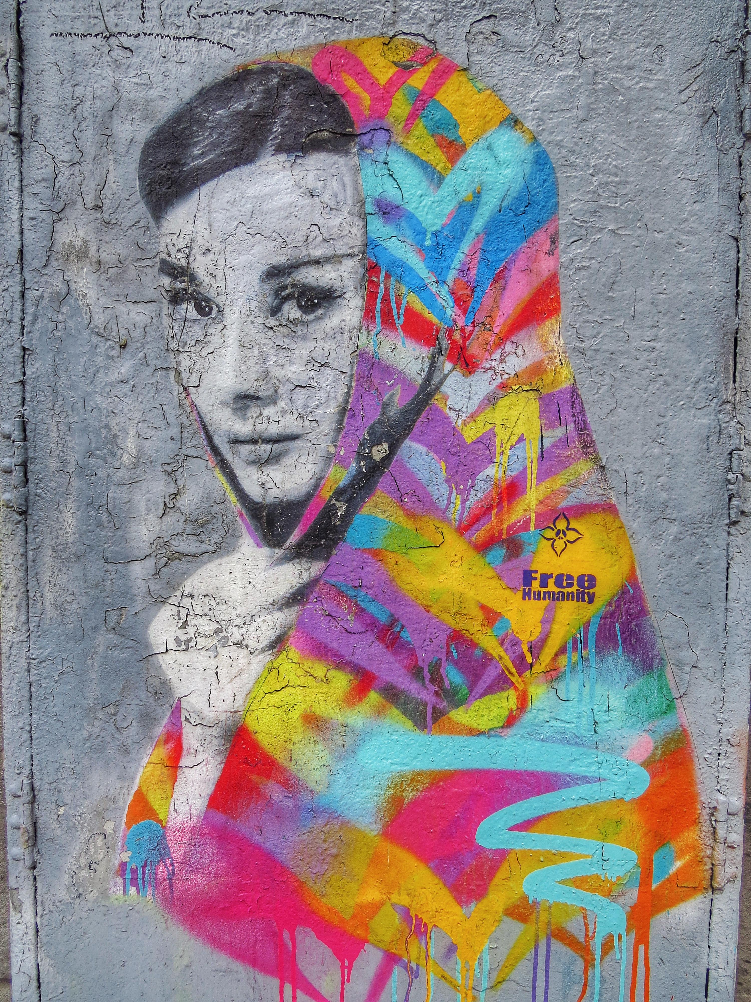 LOS ANGELES, CALIFORNIA STREET ART: AUDREY HEPBURN by FREE HUMANITY